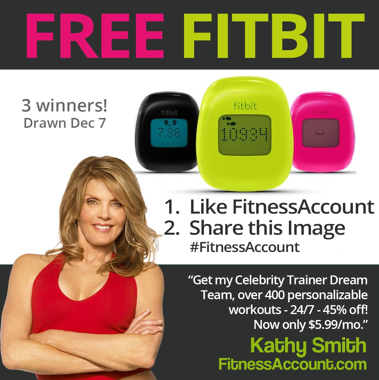 FITBIT GIVEAWAY!
