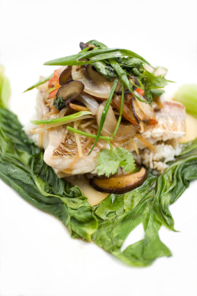 Steamed Fish With Chinese Herbs