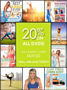Sale on Kathy Smith fitness DVDs 20% off