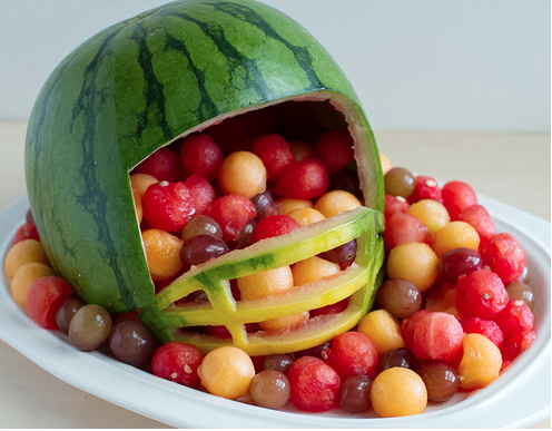 Football Helmet Fruit Platter