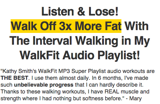 Listen and Lose MP3 Super Playlist Walk Fit