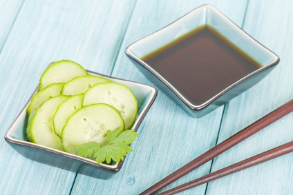 Cucumber Salad - Oriental style cucumber salad and sauce