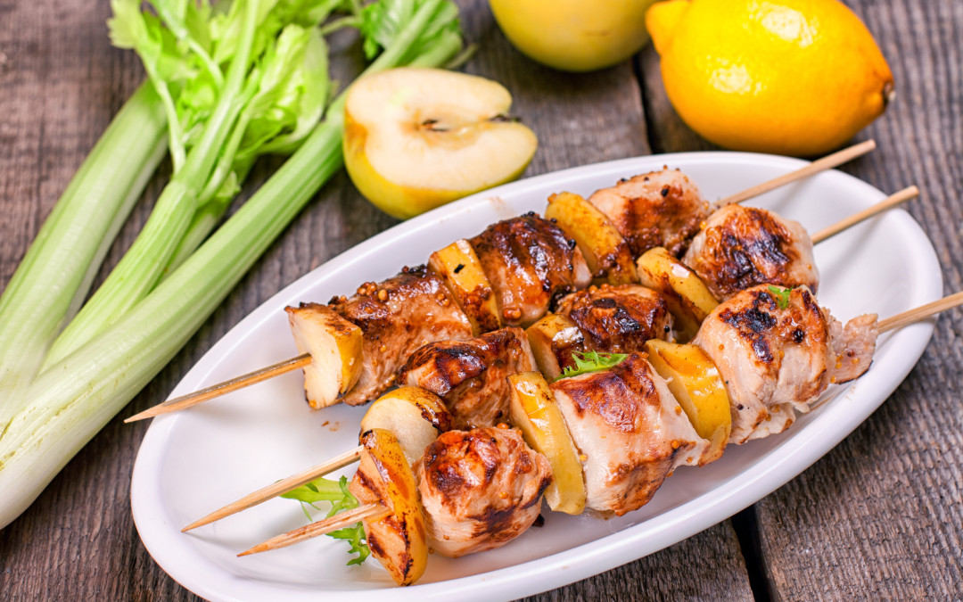 Mediterranean Chicken Skewers  (Serves 4)