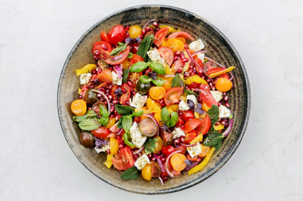 Tomato and Pomegranate Salad Recipe