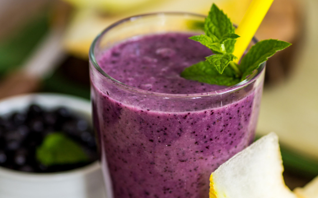 Blackberry Pear Protein Shake