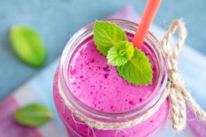 protein shake - pink mint