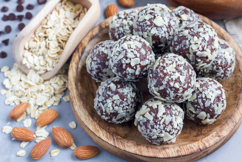 Chocolate Almond Butter Protein Balls
