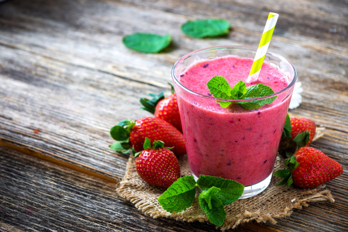 Avocado Strawberry Mint Slim Shake