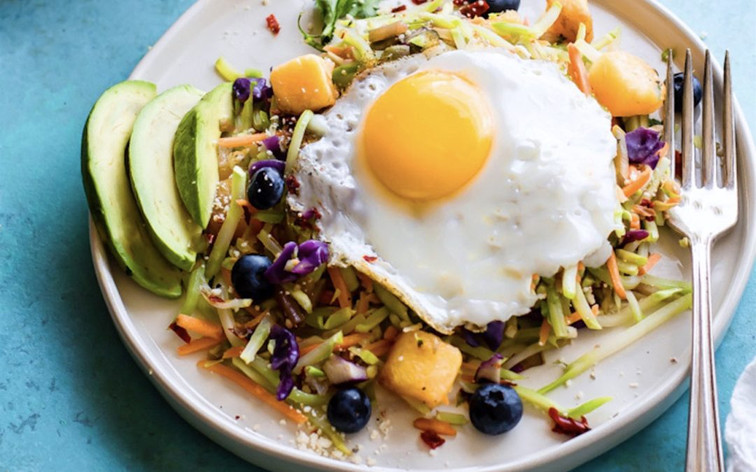 Broccoli Slaw Breakfast Salad