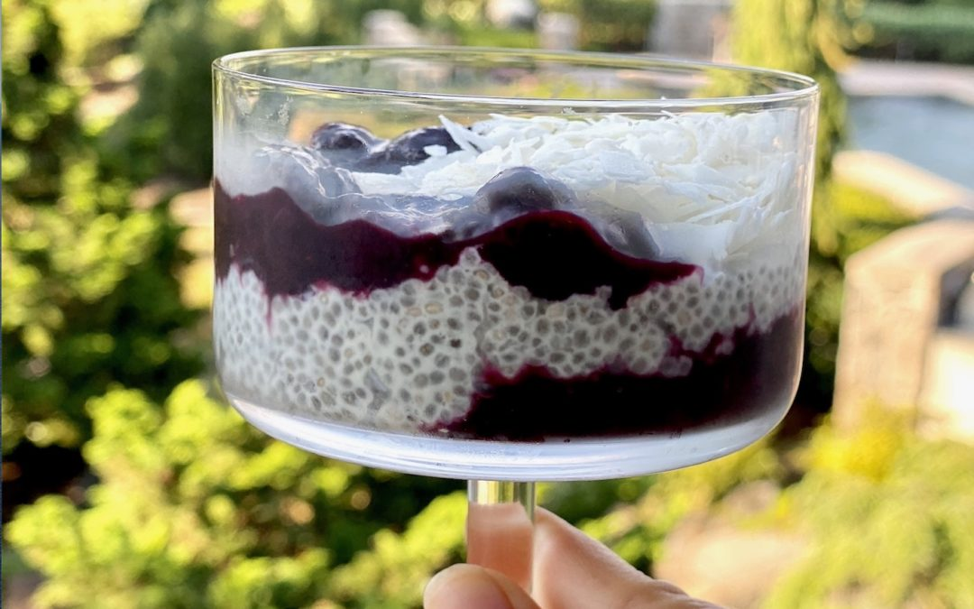 Blueberry Vanilla Protein Chia Pudding