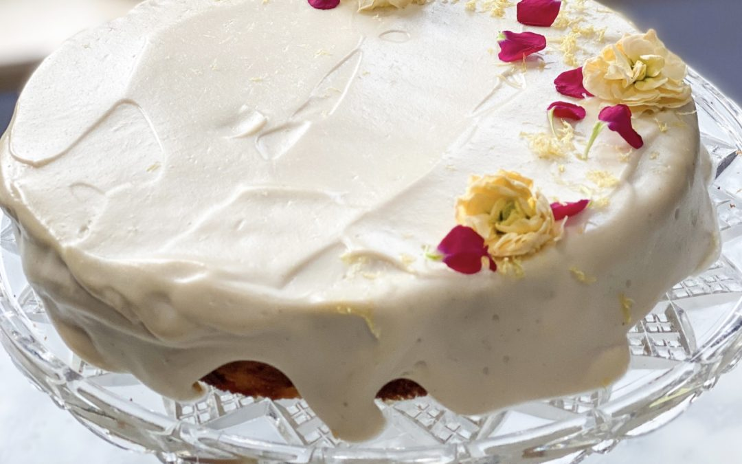 Fresh Lemon Cake with Cashew Frosting